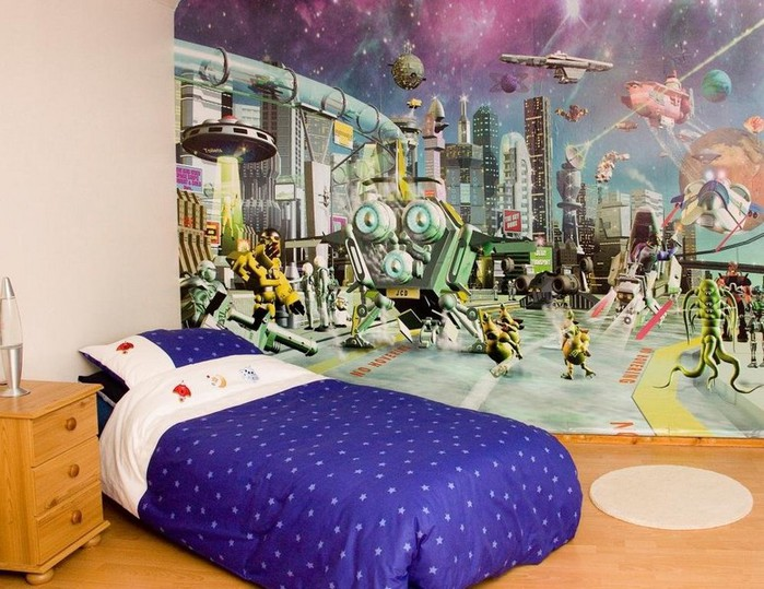 for Space wallpaper for kids room