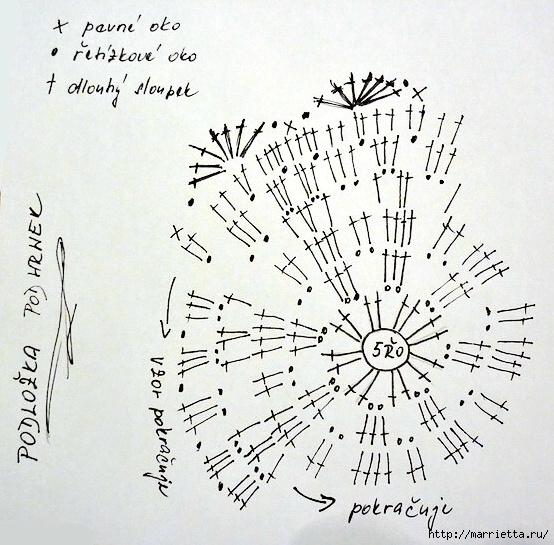 Винтажное вязание крючком со схемами 336