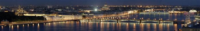 Панорама Санкт - Петербурга Белые ночи  (700x111, 57Kb)