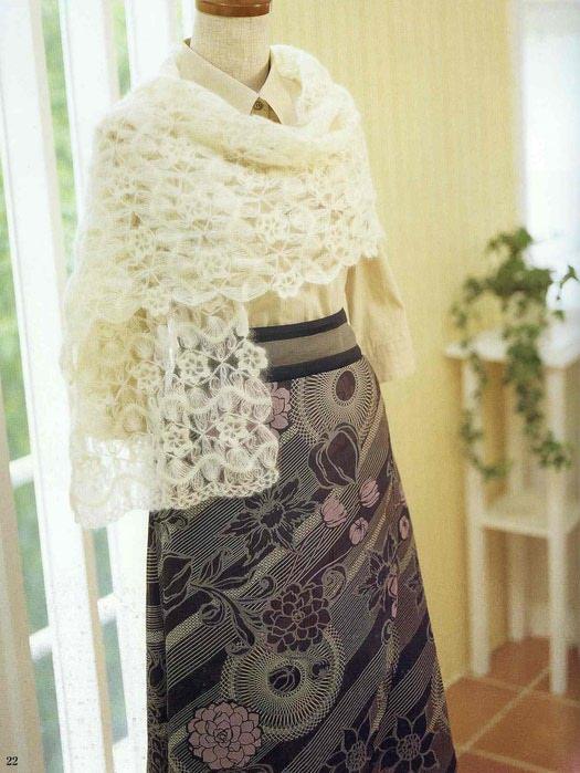 Вязание шарфа из мохера 5