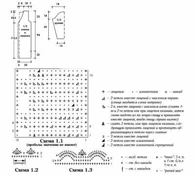 Схема вязания (399x359, 25Kb)