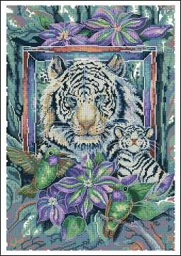 Поделиться. бесплатно. схема.  Метки.  Описание: Схема для вышивки крестом - Тигр в формате xsd.  Размер: 158х230...