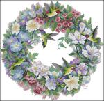 Превью Hummingbird Wreath (700x676, 457Kb)