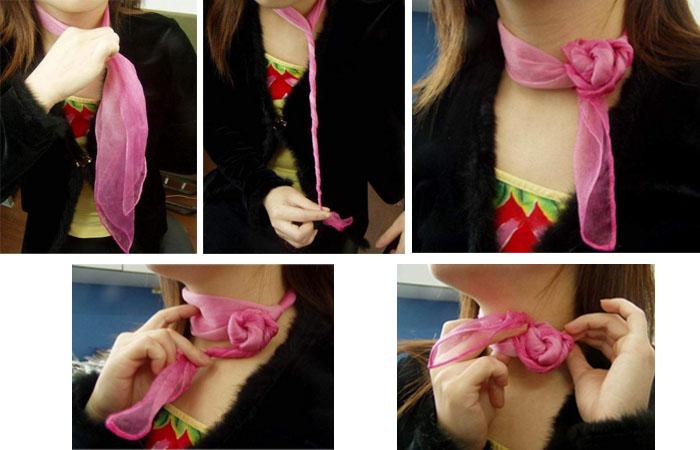 Красиво завязать платок на шее