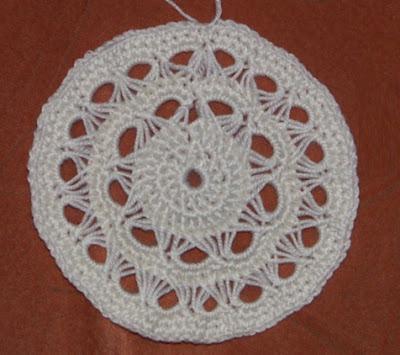 примера вязания круга в