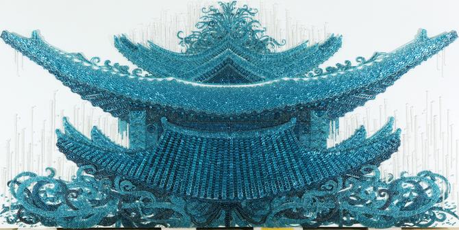 картины из пуговиц Ran Hwang 10 (670x336, 341Kb)