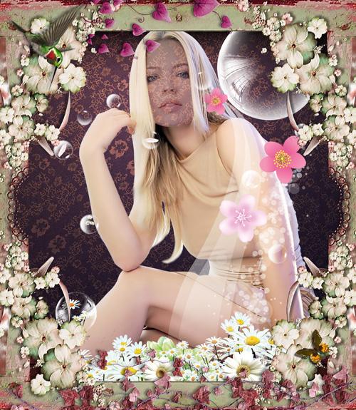 Многослойный шаблон для фотошопа - Девушка в очень красивой рамочке из цветов/1337276543_PSD_Girl_in_flowers_border (500x575, 219Kb)