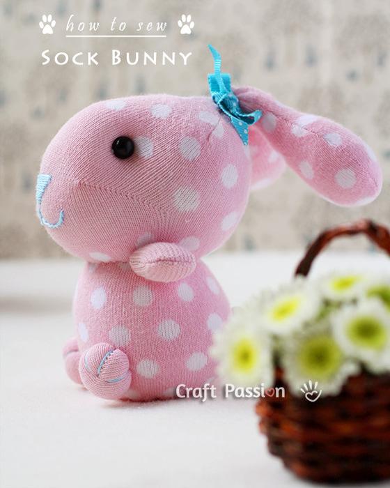 【转载】袜子娃娃小兔子-7-(燕窝编织)
