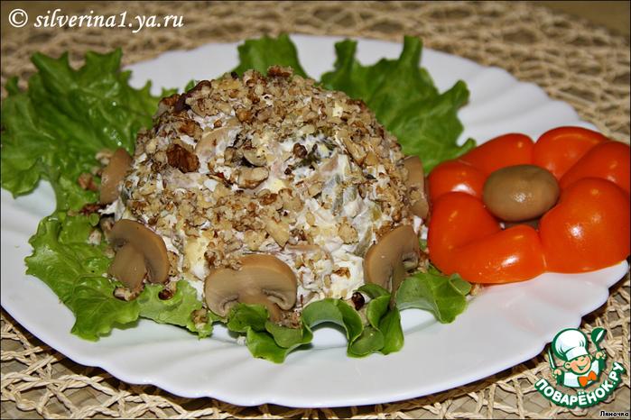 Салат с мясом и грибами рецепт с