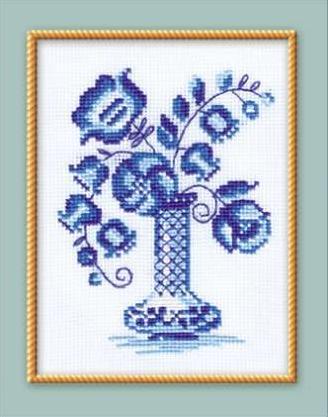 1 раз.  Процитировано.  Вышивка крестиком/Цветочная тема. в цитатник. вышивка крестом гжель.
