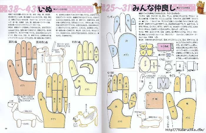 Как сделать выкройки перчаток 240