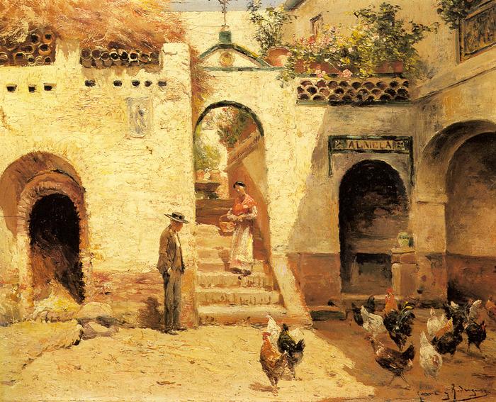 Garcia-Y-Rodriguez-Manuel-Feeding-Poultry-In-A-Courtyard (700x567, 268Kb)