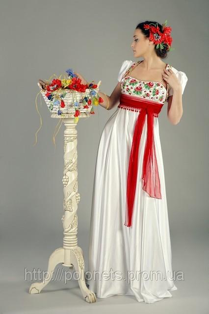 Свадебные платья в украинском стиле с