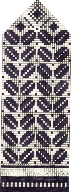 Варежки схемы 37 (252x675, 42Kb)