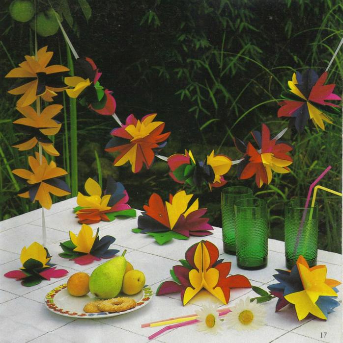 Бумажное волшебство - книга поделок, которая научит вас создавать красивые объёмные открытки, подвесные игрушки...