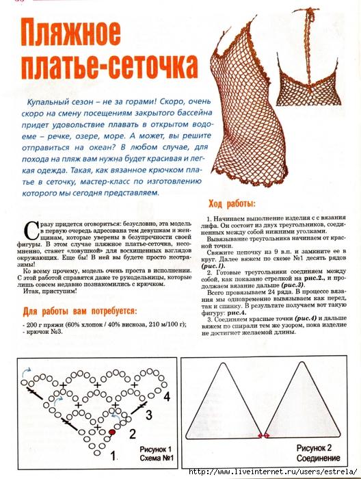 Вязание крючком страна мам пляжные туники схемы и описание 68