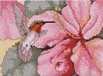 Превью Hibiscus and  Hummingbird (598x442, 77Kb)