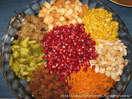 Рецепты салатов кучками с фото