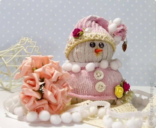 Красивый снеговик (520x425, 51Kb)