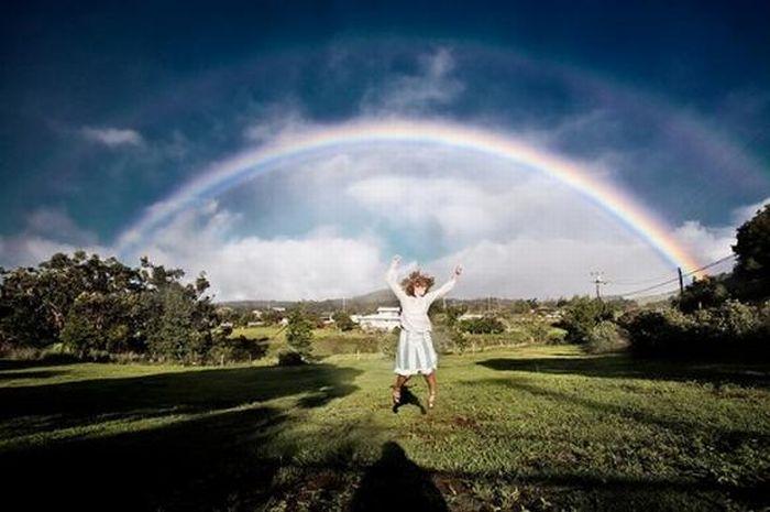 Подборка самых необычных радуг и радуг в самых необычных местах.