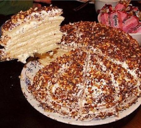Классический рецепт сметанник торт