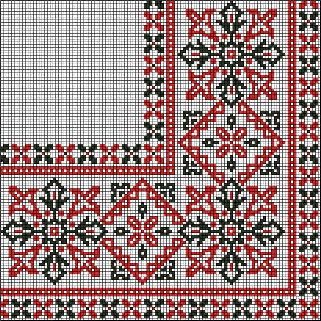 Орнамент для скатерти вышивка