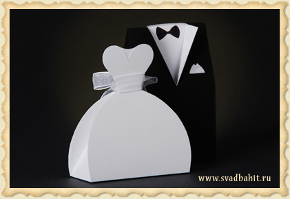 Бонбоньерка «Платье невесты»