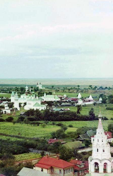 Общий вид Покровского женского монастыря с юга' [Суздаль] (448x700, 50Kb)