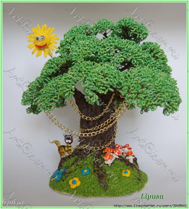Поделка из природных материалов-у лукоморья дуб зеленый
