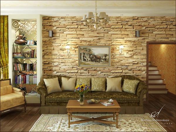 Декоративной камень дизайн интерьера