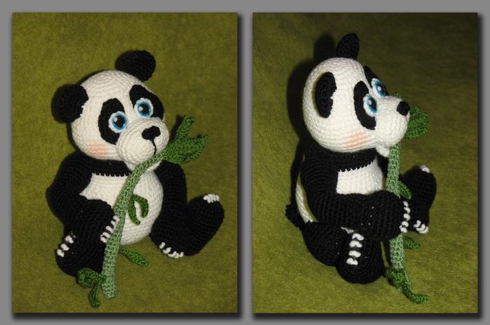 Схема вязания мишки панда 65