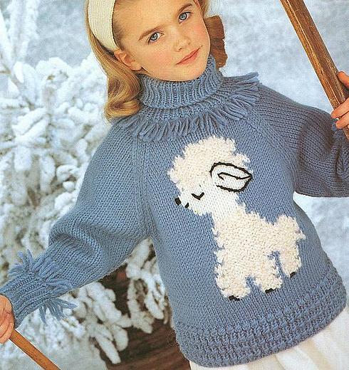детск свитер с собачкой (490x520, 74Kb)