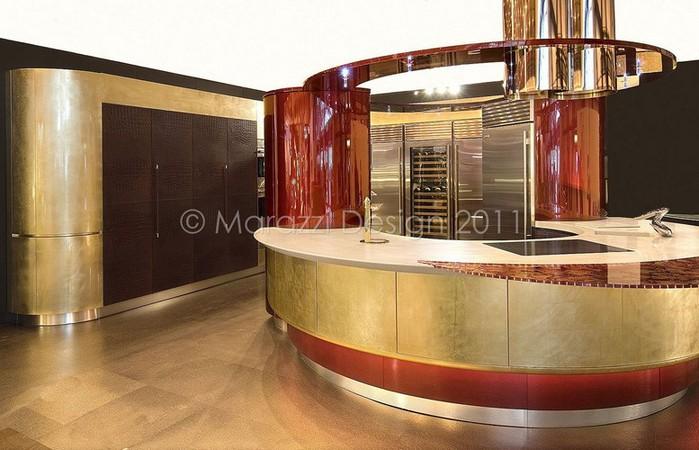 Самая дорогая кухня в мире - Colosseo Oro от студии Marazzi Design 2 (700x450, 90Kb)