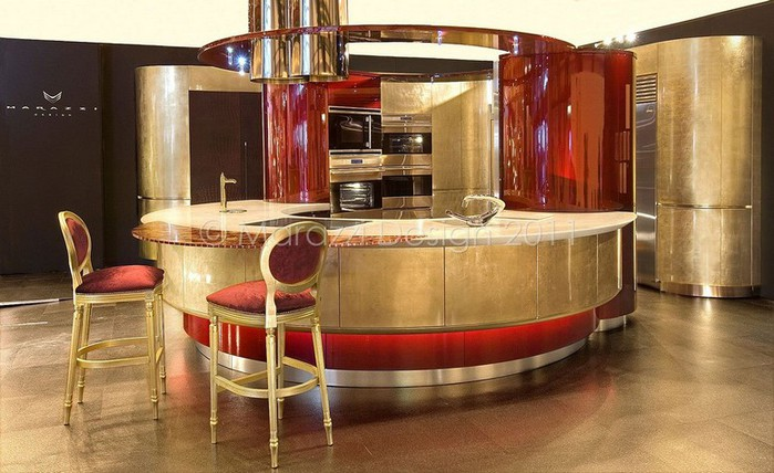 Самая дорогая кухня в мире - Colosseo Oro от студии Marazzi Design 6 (700x428, 93Kb)