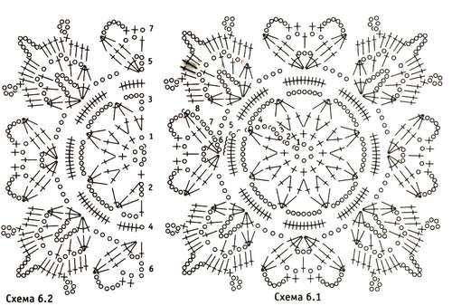 Вязание крючком пастила по схемам