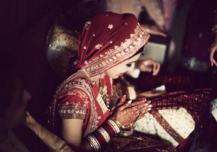 Портретные фото невест из Индии 16 (700x491, 78Kb)