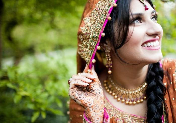 Портретные фото невест из Индии 17 (700x491, 87Kb)