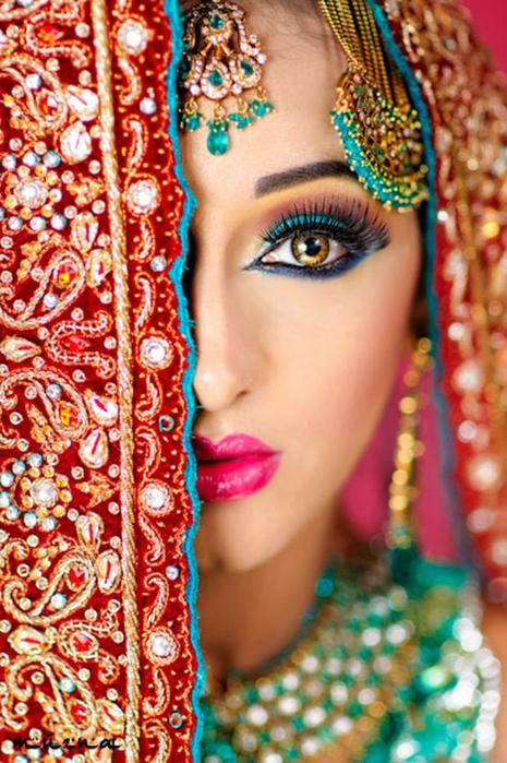 Портретные фото невест из Индии 26 (465x700, 486Kb)