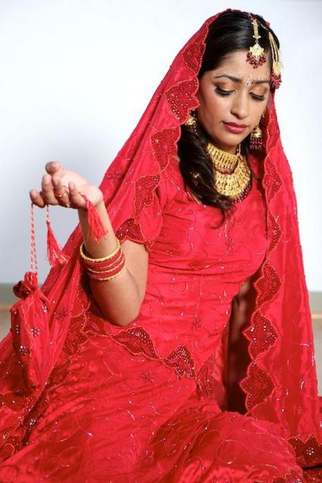 Портретные фото невест из Индии 30 (466x700, 350Kb)