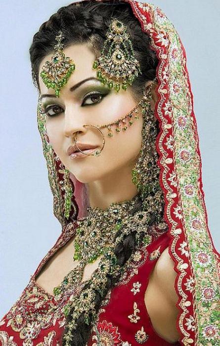 Портретные фото невест из Индии 42 (445x700, 388Kb)