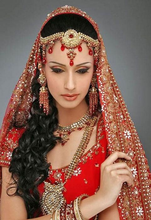 Портретные фото невест из Индии 47 (481x700, 379Kb)