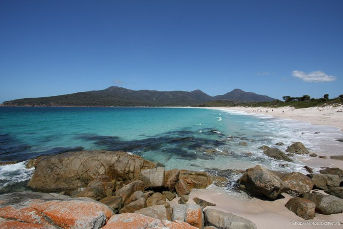 Пляж Wineglass Bay фото (700x466, 72Kb)