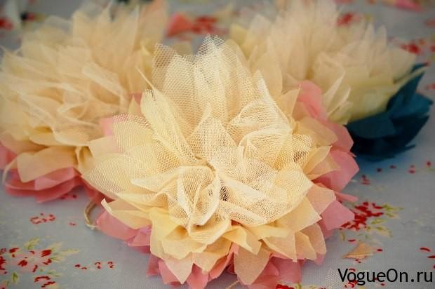 Цветы на свадьбу из ткани