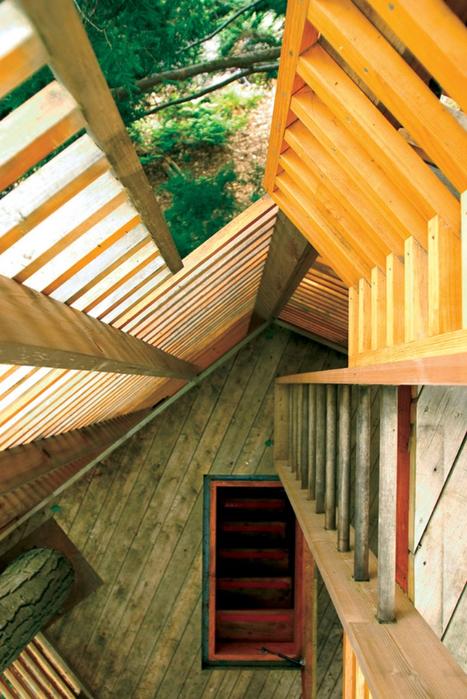 Дом на дереве в лесу неподалеку озера Мускоке 4 (467x700, 446Kb)