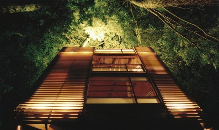 Дом на дереве в лесу неподалеку озера Мускоке 7 (700x414, 84Kb)