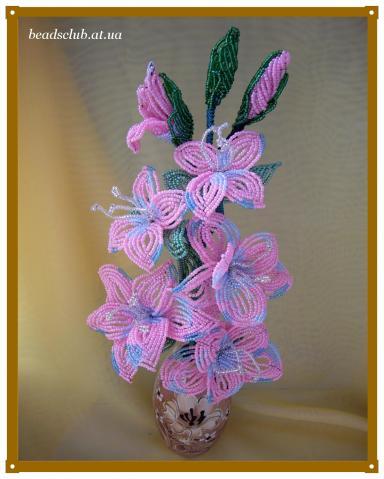 что цветы из бисера