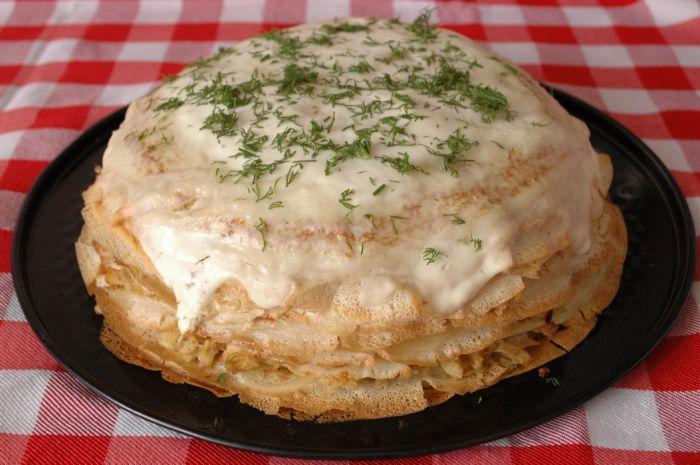 Пирог с капустой слоеное тесто рецепт