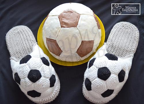 Коврик футбольный мяч своими руками 13