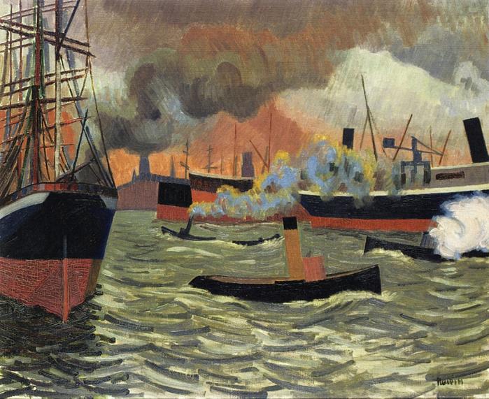 1307722818_auguste-herbin-hamburgs-port-1907 (700x571, 562Kb)