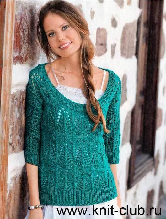 Схемы вязания спицами пуловера